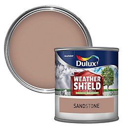 Dulux Weathershield Sandstone beige Smooth Masonry paint 0.25L