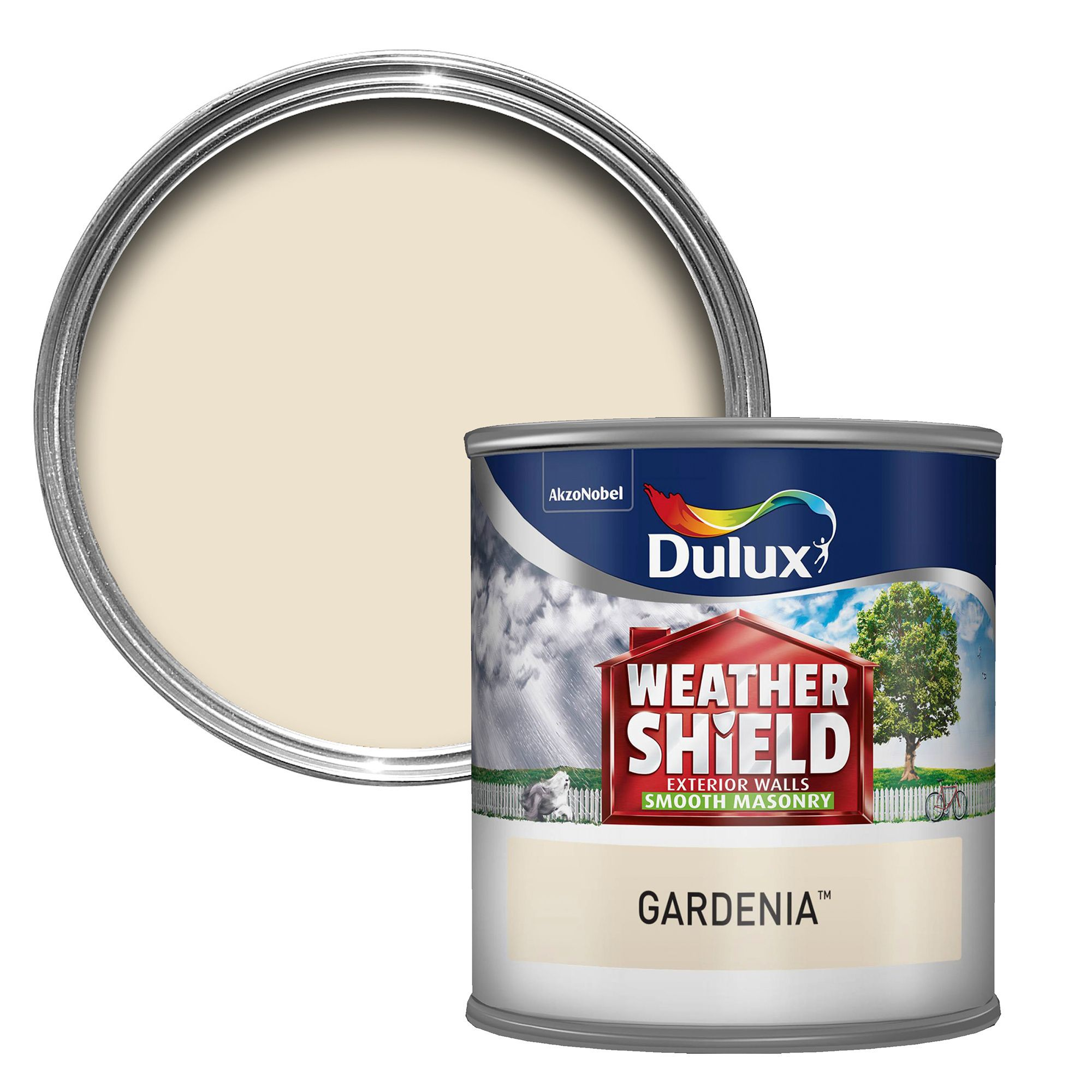 Dulux Weathershield Gardenia Smooth Masonry Paint 0 25l