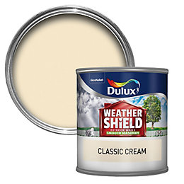 Dulux Weathershield Classic cream Smooth Masonry paint 0.25L