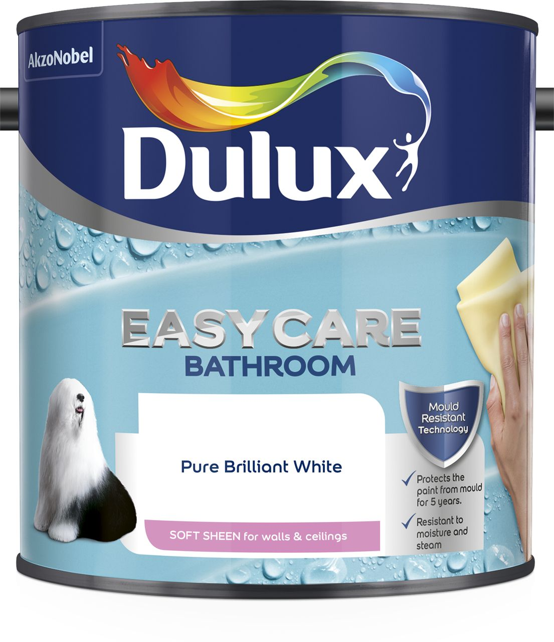 Wondrous Dulux Easycare Pure Brilliant White Soft Sheen Emulsion Paint 2 5L Departments Diy At Bq Home Interior And Landscaping Spoatsignezvosmurscom