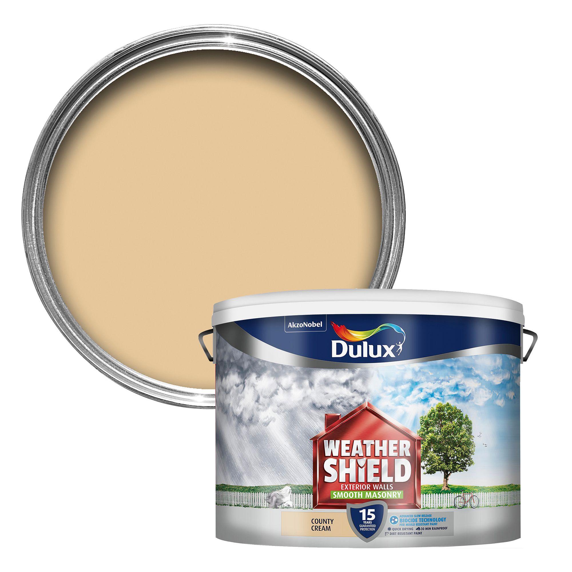 Dulux Weathershield County Cream Smooth Masonry Paint 10l