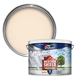 Dulux Weathershield Magnolia Cream Smooth Matt Masonry Paint