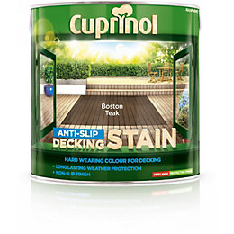 Cuprinol Boston Teak Matt Anti Slip Decking Stain