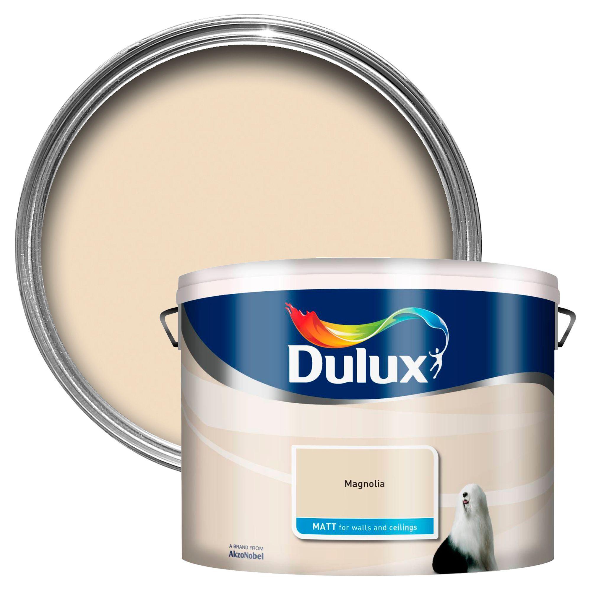 Dulux Magnolia Matt Emulsion paint 10L | Departments | DIY at B&Q