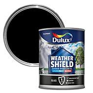 Dulux Weathershield Black Gloss Wood & metal paint 0.75L