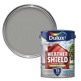 Dulux Weathershield Concrete grey Smooth Masonry paint 5L