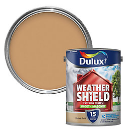 Dulux Weathershield Muted Gold Smooth Masonry Paint 5L