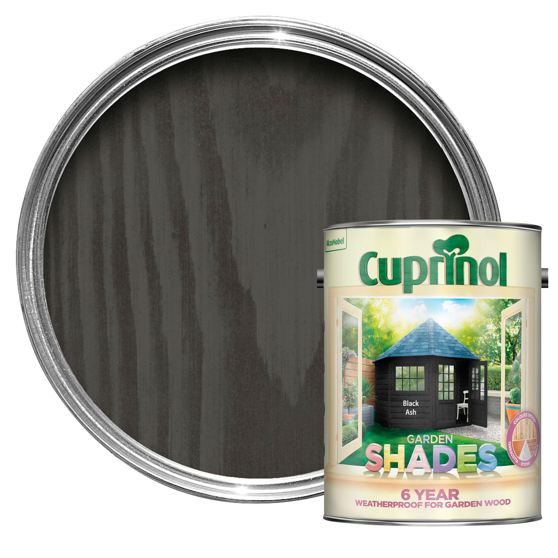 Cuprinol Garden Shades Black Ash Matt Wood Paint 5L
