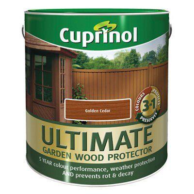 Cuprinol Ultimate Golden Cedar Matt Wood Preserver Departments Diy At B Q