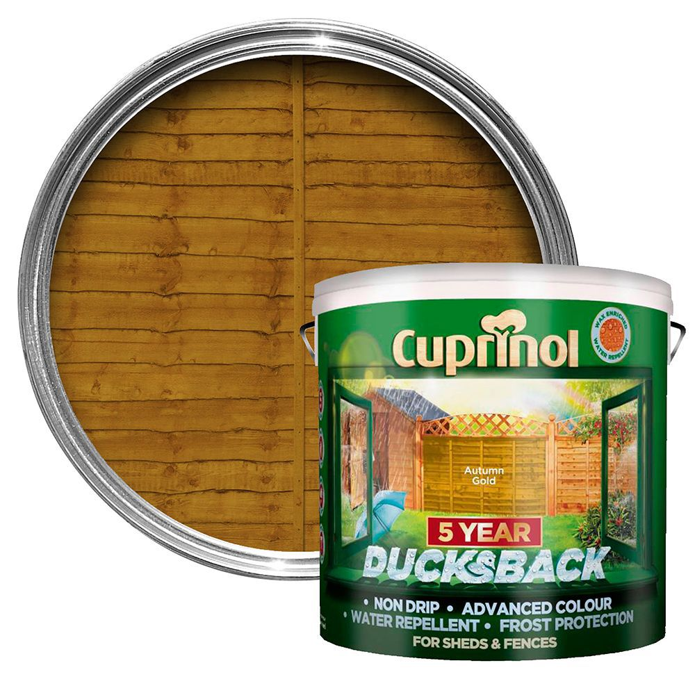 Cuprinol 5 Year Ducksback Autumn Gold Fence Shed Wood Treatment 9l Departments Tradepoint