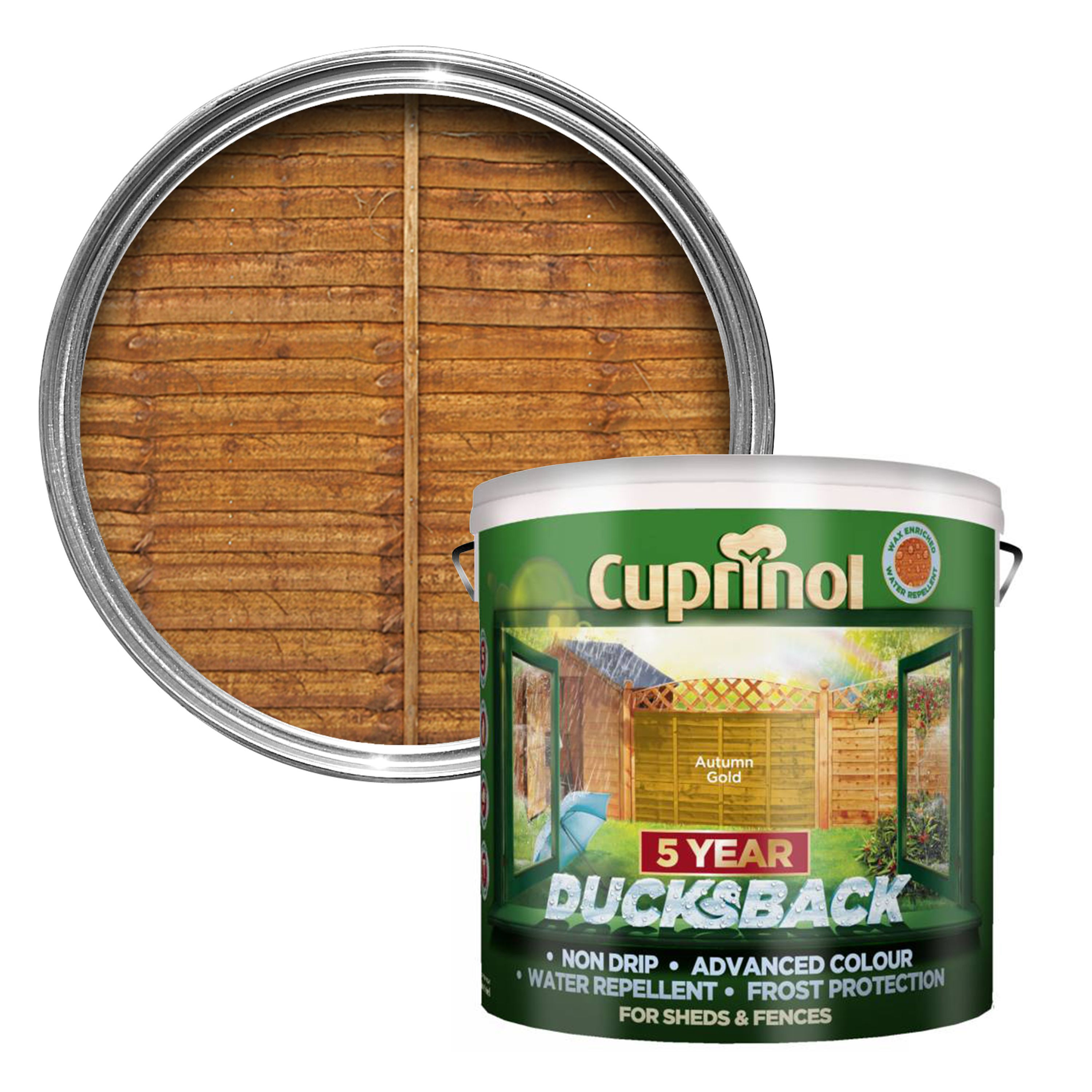 Cuprinol 5 Year Ducksback Autumn Gold Shed Amp Fence