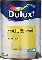 Dulux Feature wall Lemon punch Matt Emulsion paint 1.25L