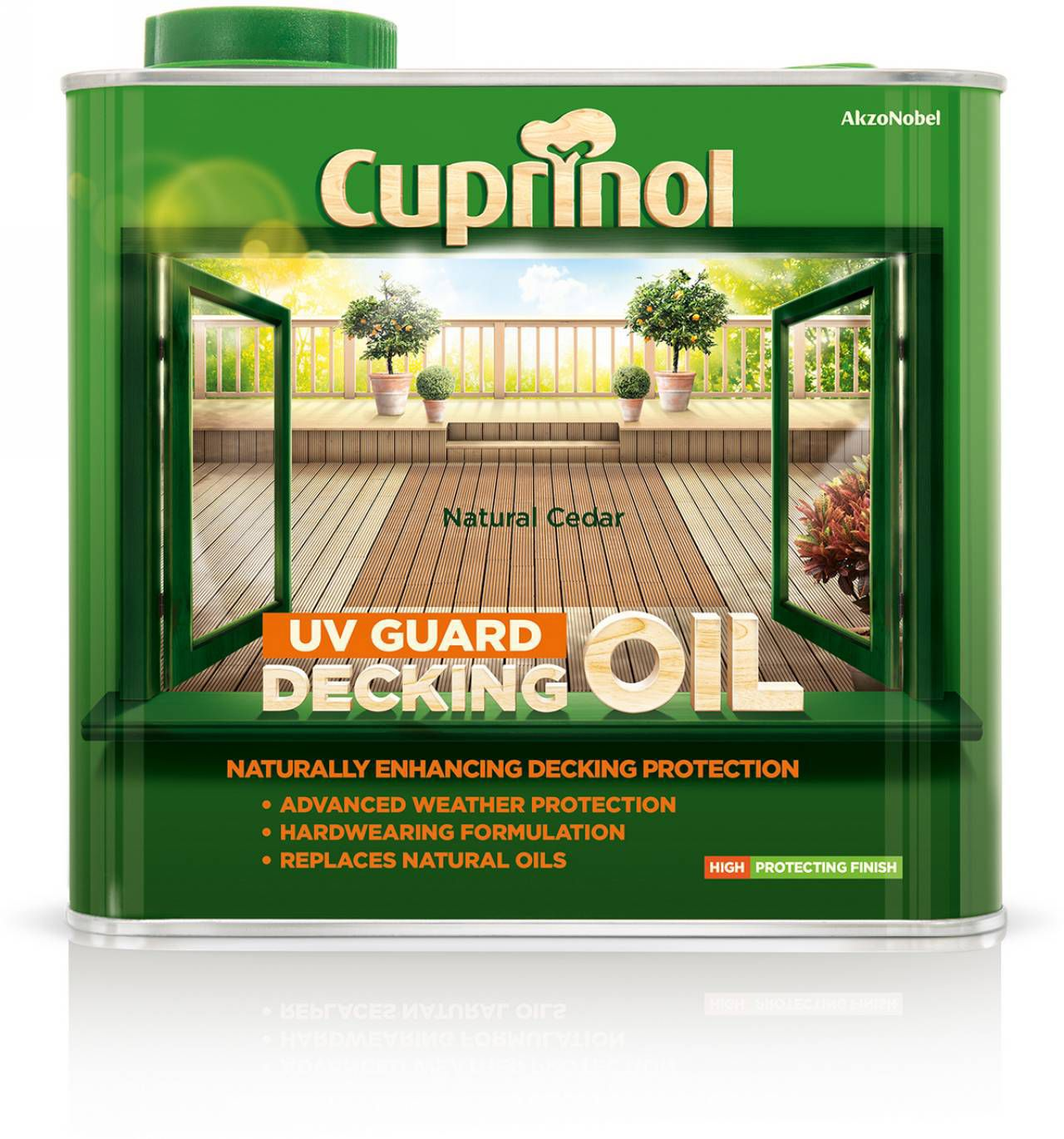 Cuprinol UV guard Natural cedar Matt Decking oil