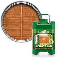 Cuprinol One Coat Sprayable Autumn gold Matt Shed & fence treatment 5L