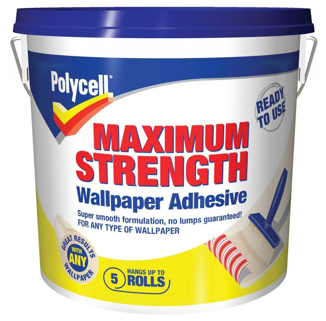 Polycell Maximum Strength Ready To Use Wallpaper Adhesive 45kg