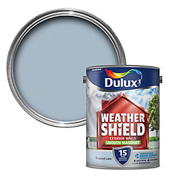 Dulux Weathershield Frosted lake blue Smooth Masonry paint