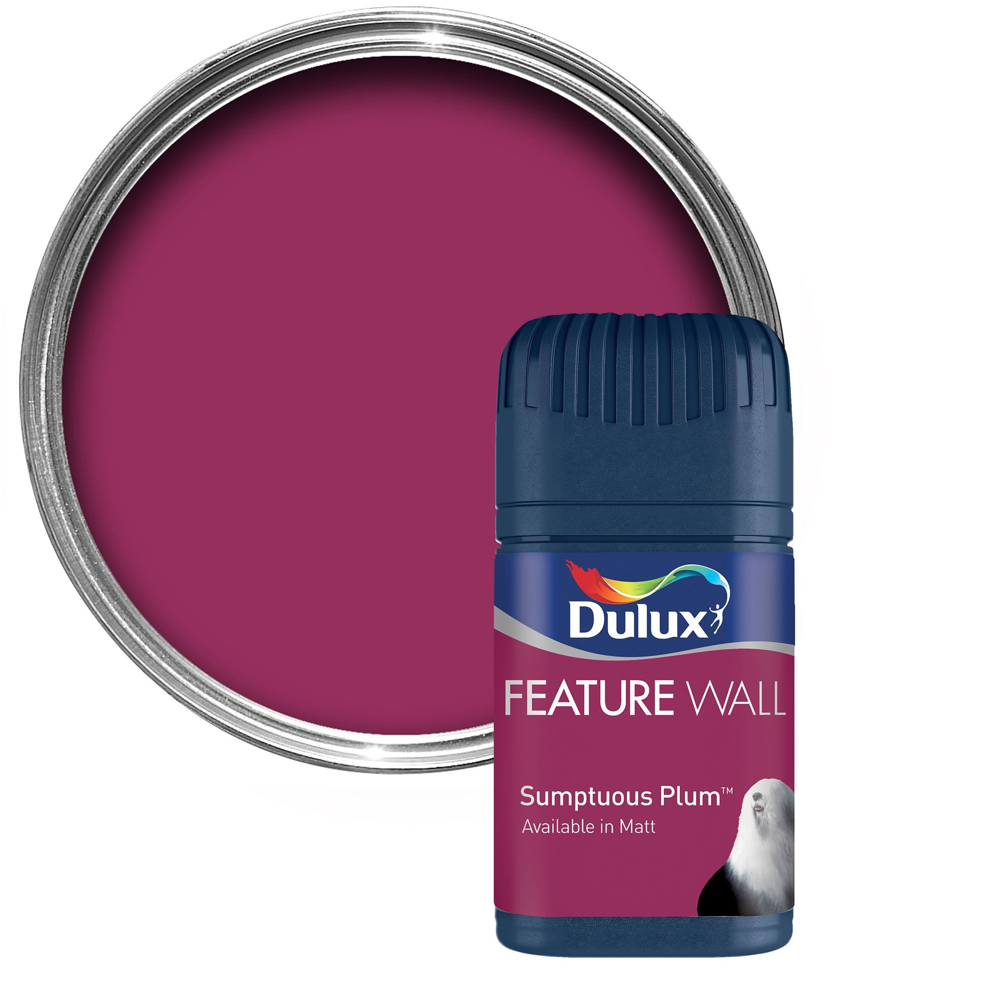 Plum Kitchen Paint: Dulux Feature Wall Sumptuous Plum Matt Emulsion Paint 0