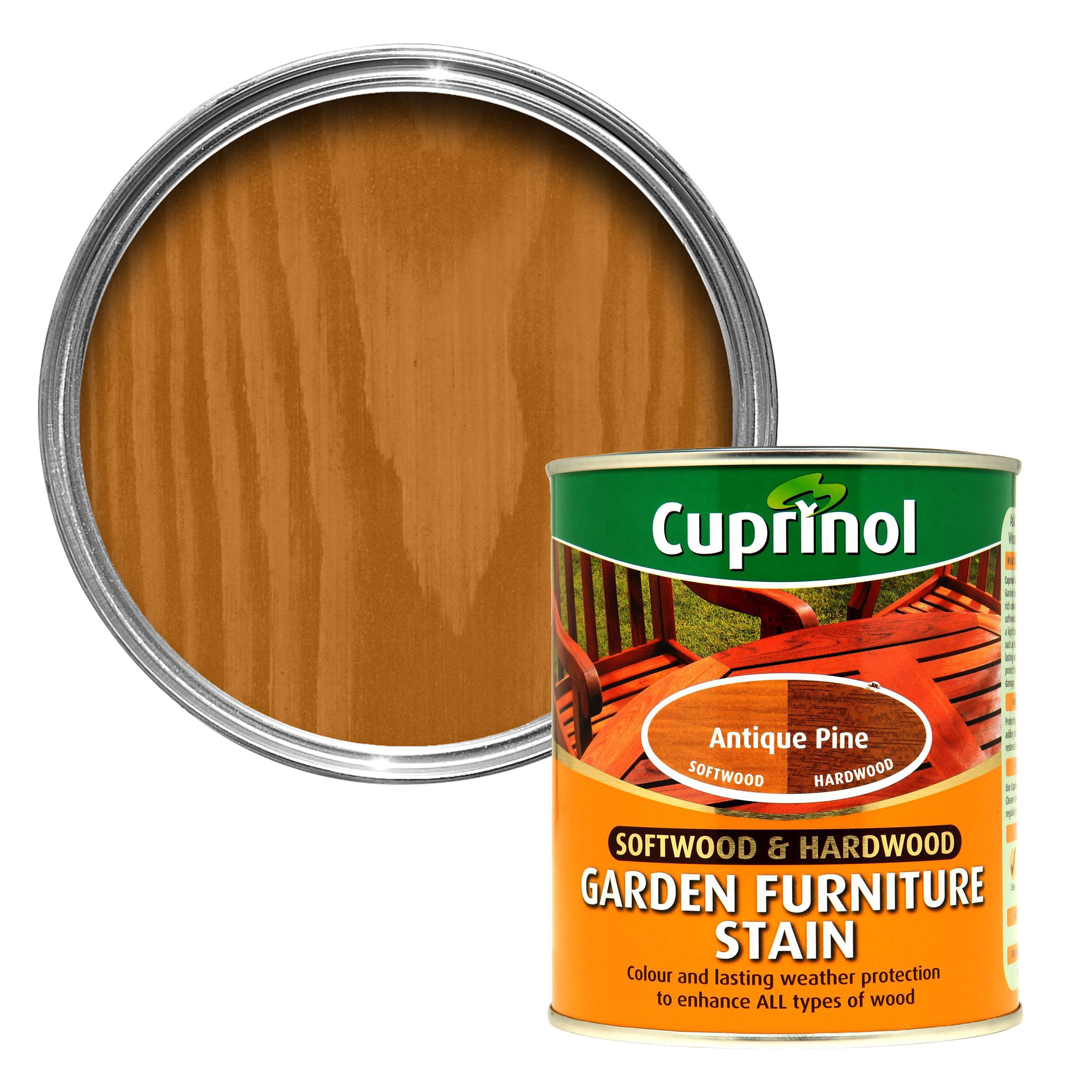 cuprinol softwood hardwood antique pine garden furniture stain 075l departments diy at bq - Garden Furniture Stain