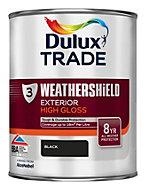 Dulux Trade Black Gloss Wood & metal paint 1L