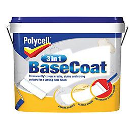 Polycell 3 In 1 White Matt Basecoat 7L