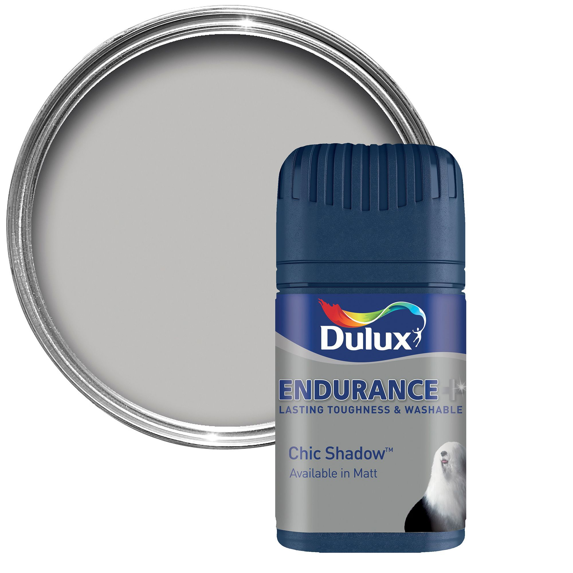 Bathroom Paint Matt: Dulux Endurance Chic Shadow Matt Emulsion Paint 0.05L