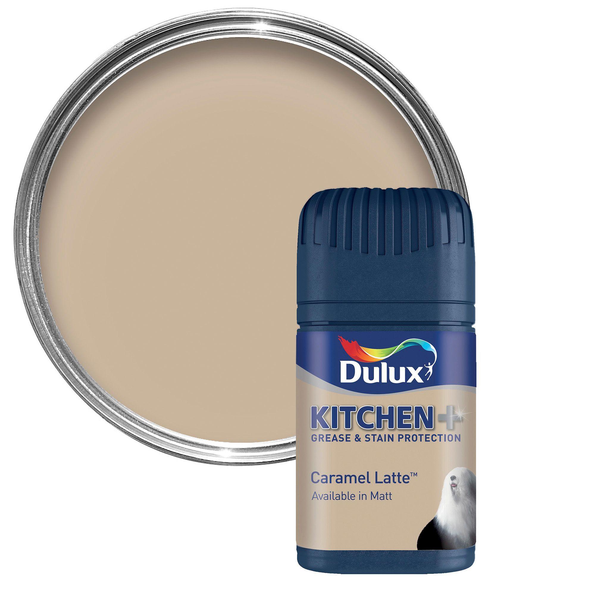 Dulux Kitchen Caramel latte Matt Emulsion paint 0.05L ...