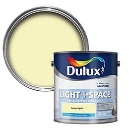 Dulux Light & space Lemon spirit Matt Emulsion