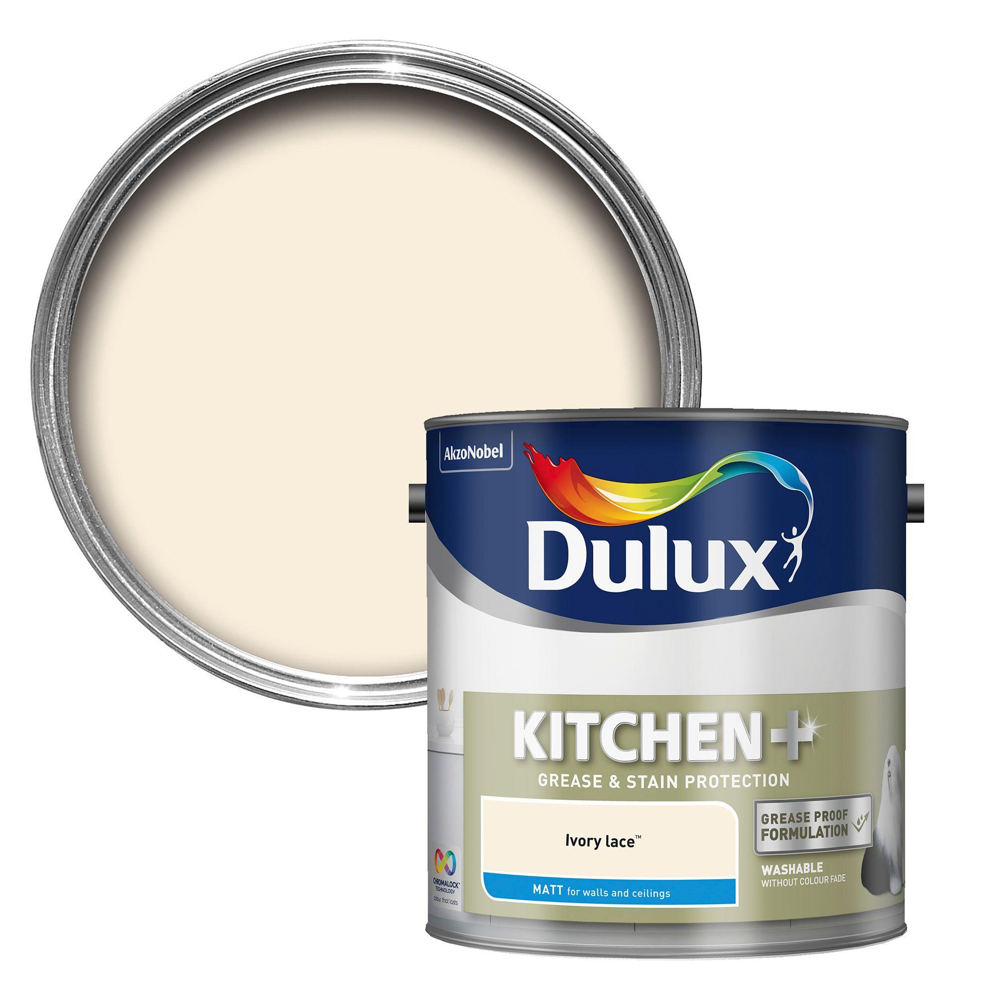 Dulux Kitchen Ivory Lace Matt Emulsion Paint 2 5l
