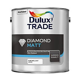 Dulux Trade Diamond Pure brilliant white Matt Emulsion
