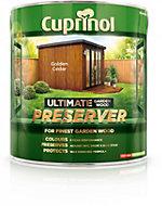 Cuprinol Ultimate Golden cedar Matt Garden wood preserver 4L