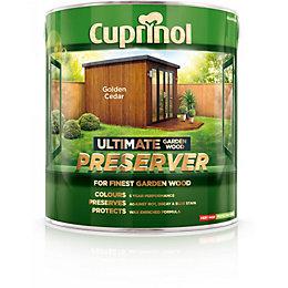 Cuprinol Ultimate Golden cedar Matt Garden wood preserver