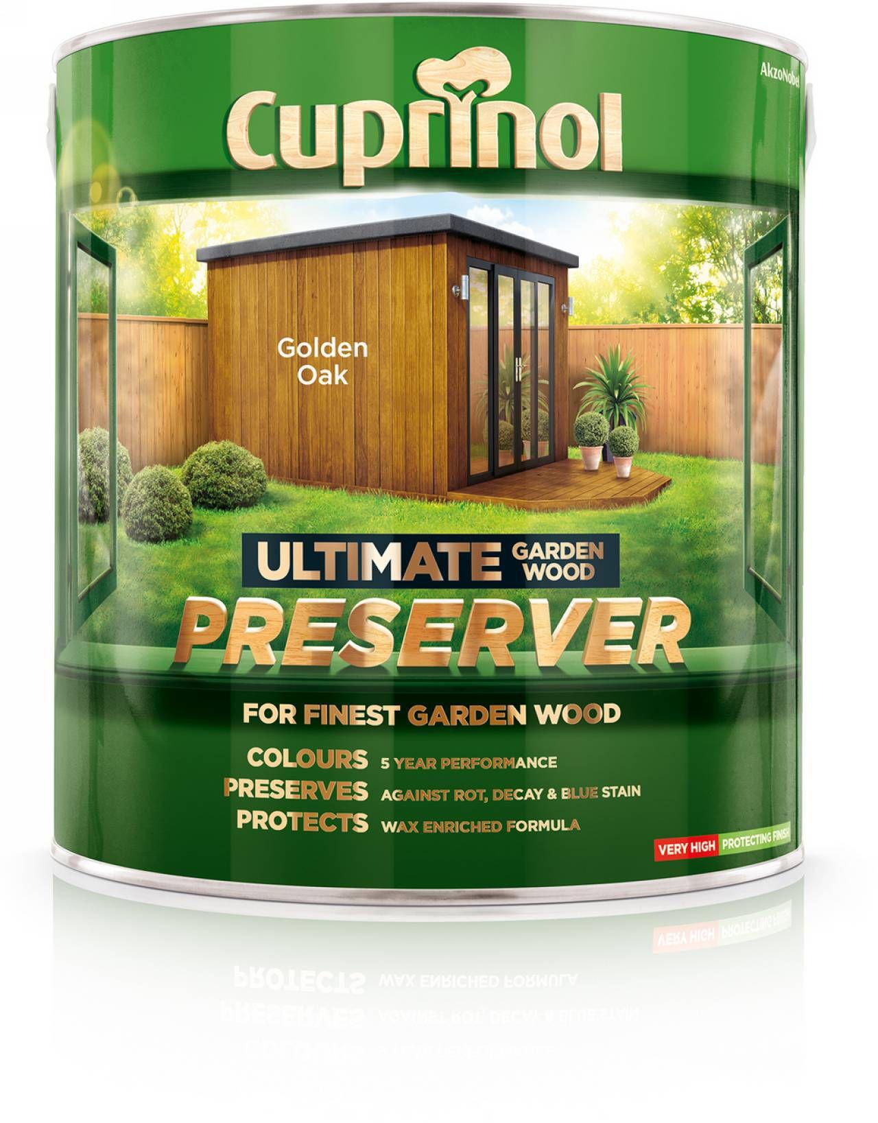 Cuprinol Ultimate Golden Oak Matt Garden Wood Preserver