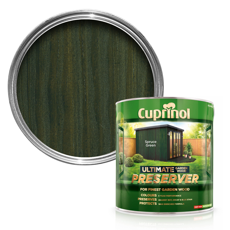 Cuprinol Ultimate Spruce Green Matt Wood Preserver 4l Departments Diy At B Q