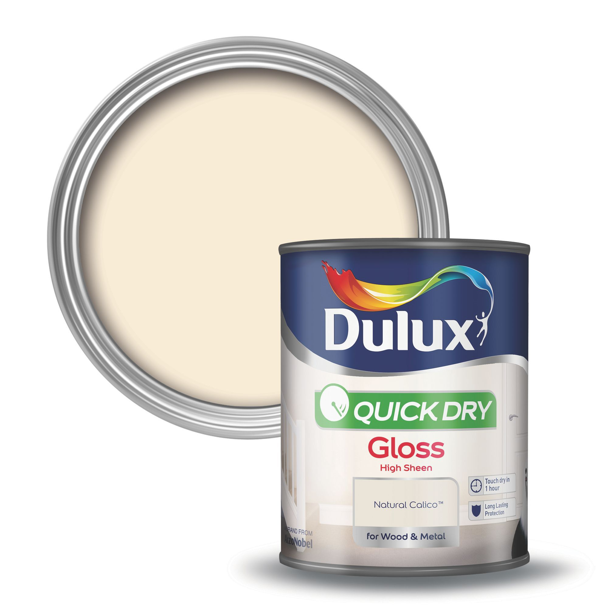 Dulux Interior Natural Calico Gloss Wood Metal Paint 750ml Departments Diy At B Q