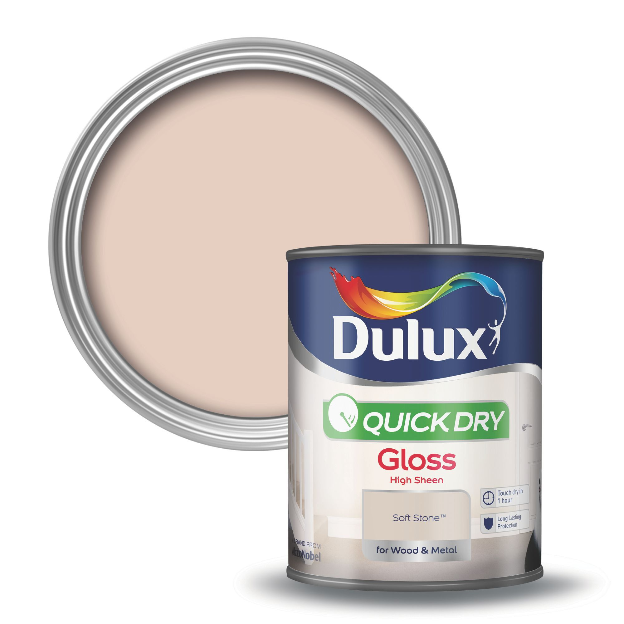 Dulux Interior Soft Stone Gloss Wood Amp Metal Paint 750ml