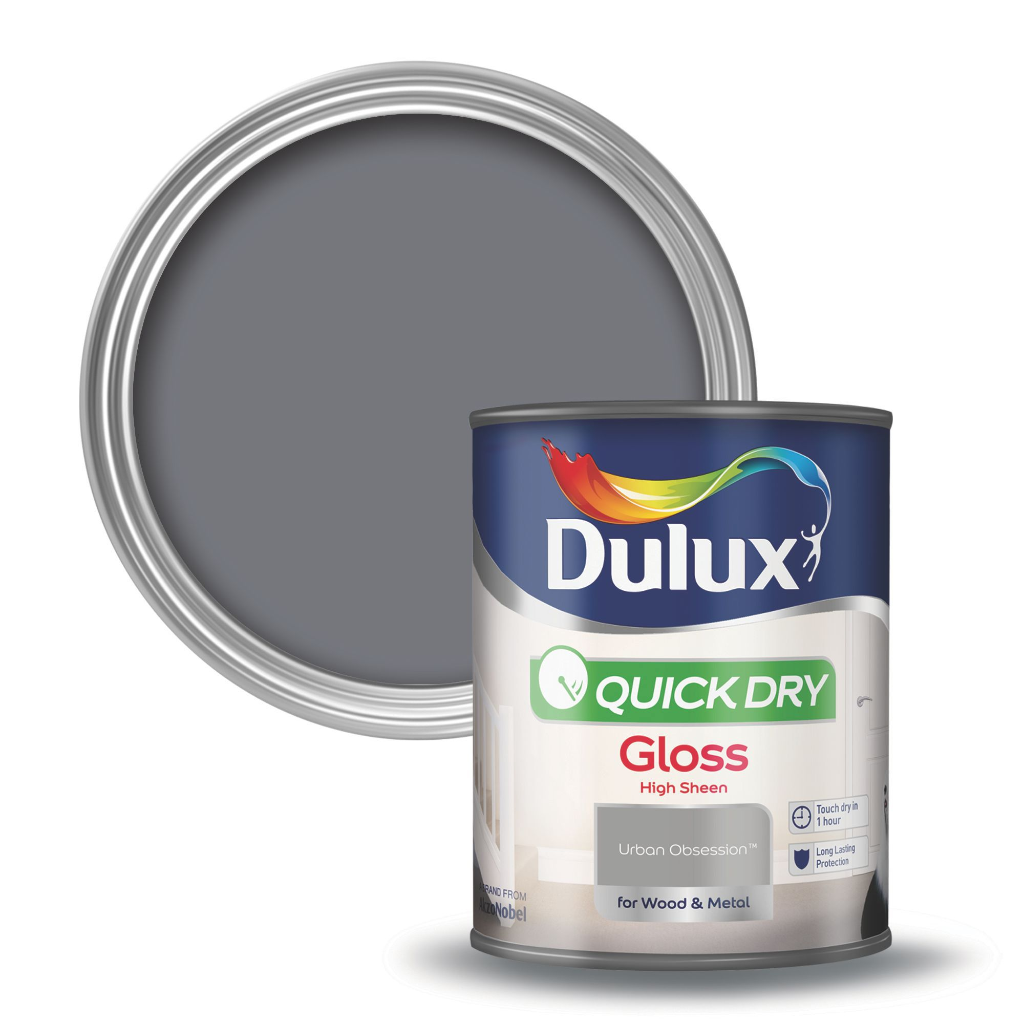 Dulux Interior Urban Obsession Gloss Wood Metal Paint 750ml Departments Diy At B Q