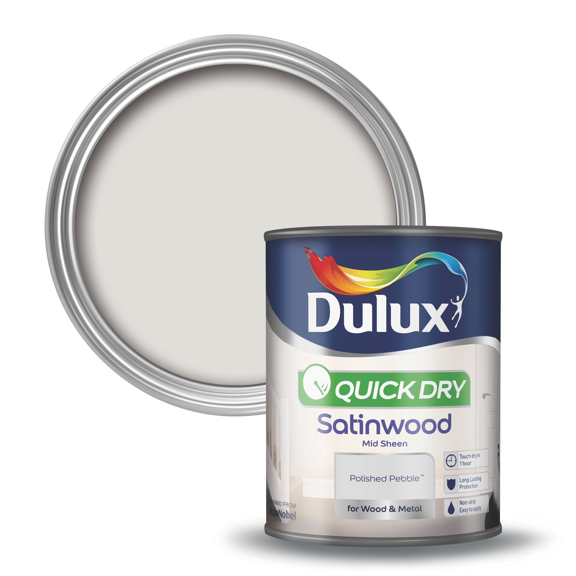Dulux Polished Pebble Satinwood Wood Amp Metal Paint 0 75l