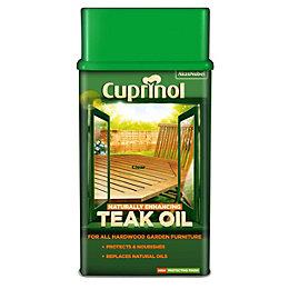Cuprinol Naturally Enhancing Clear Teak Oil 1L