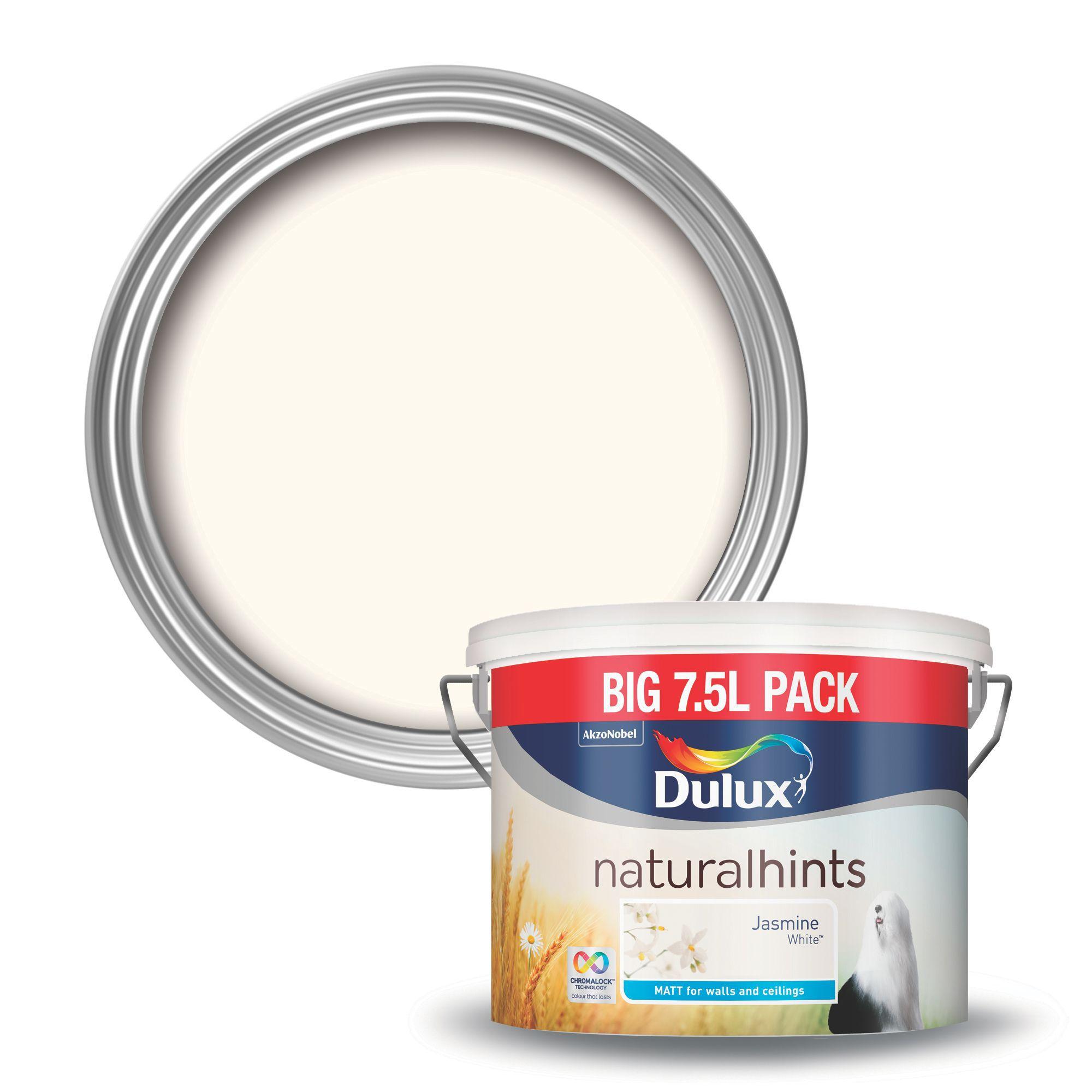 dulux natural hints jasmine white matt emulsion paint 7 5. Black Bedroom Furniture Sets. Home Design Ideas