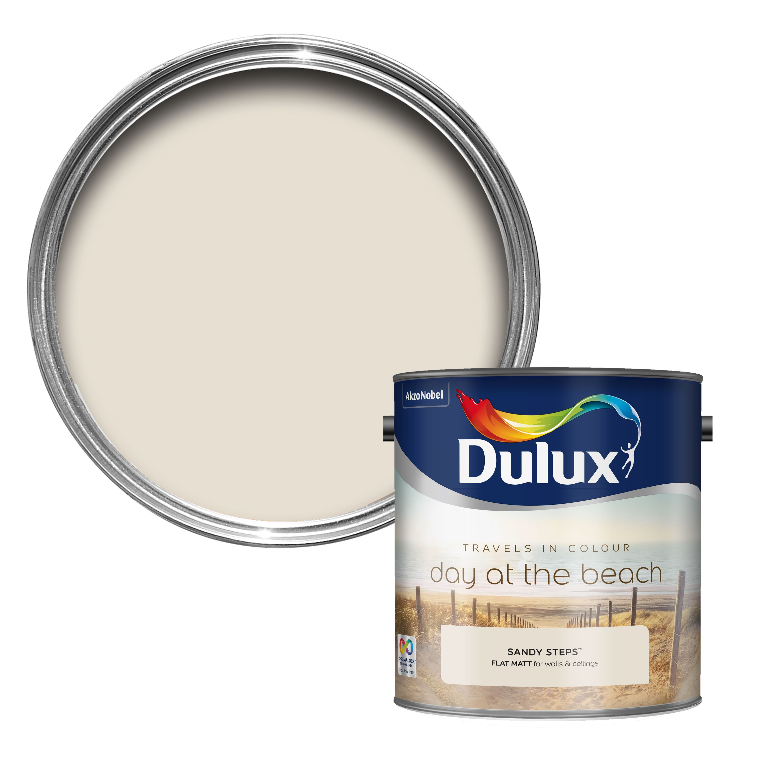 Dulux Kitchen And Bathroom Paint Colour Chart: Dulux Travels In Colour Sandy Steps Cream Matt Emulsion