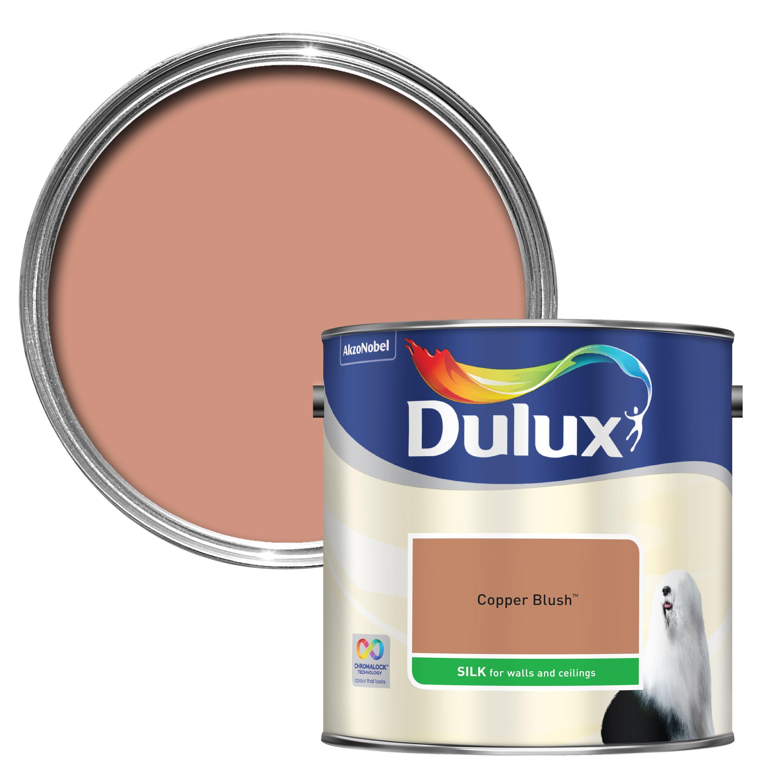 dulux copper blush silk emulsion paint 2 5l departments. Black Bedroom Furniture Sets. Home Design Ideas