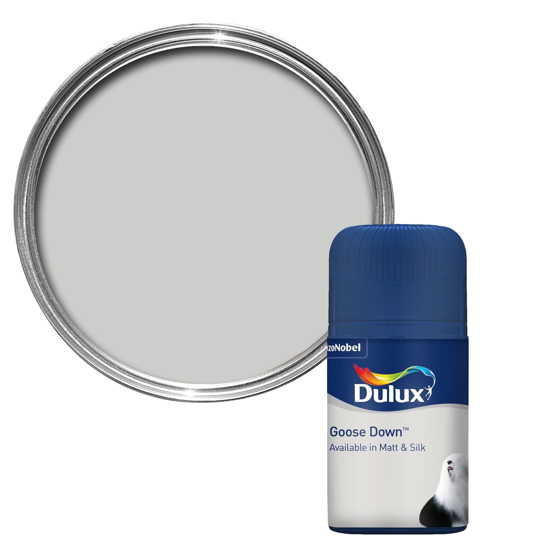 dulux goose down matt paint tester pot departments. Black Bedroom Furniture Sets. Home Design Ideas
