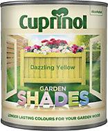 Cuprinol Garden Shades Dazzling yellow Matt Wood paint 1L