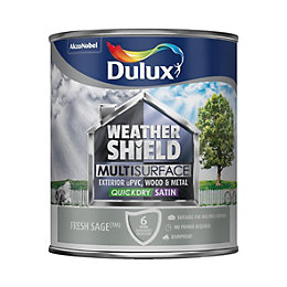 Dulux Weathershield Exterior Fresh sage Satin Paint 0.75L