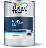 Dulux Trade Jasmine white Matt Vinyl paint 5L