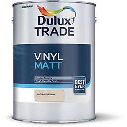 dulux once natural hessian matt emulsion paint 5l. Black Bedroom Furniture Sets. Home Design Ideas
