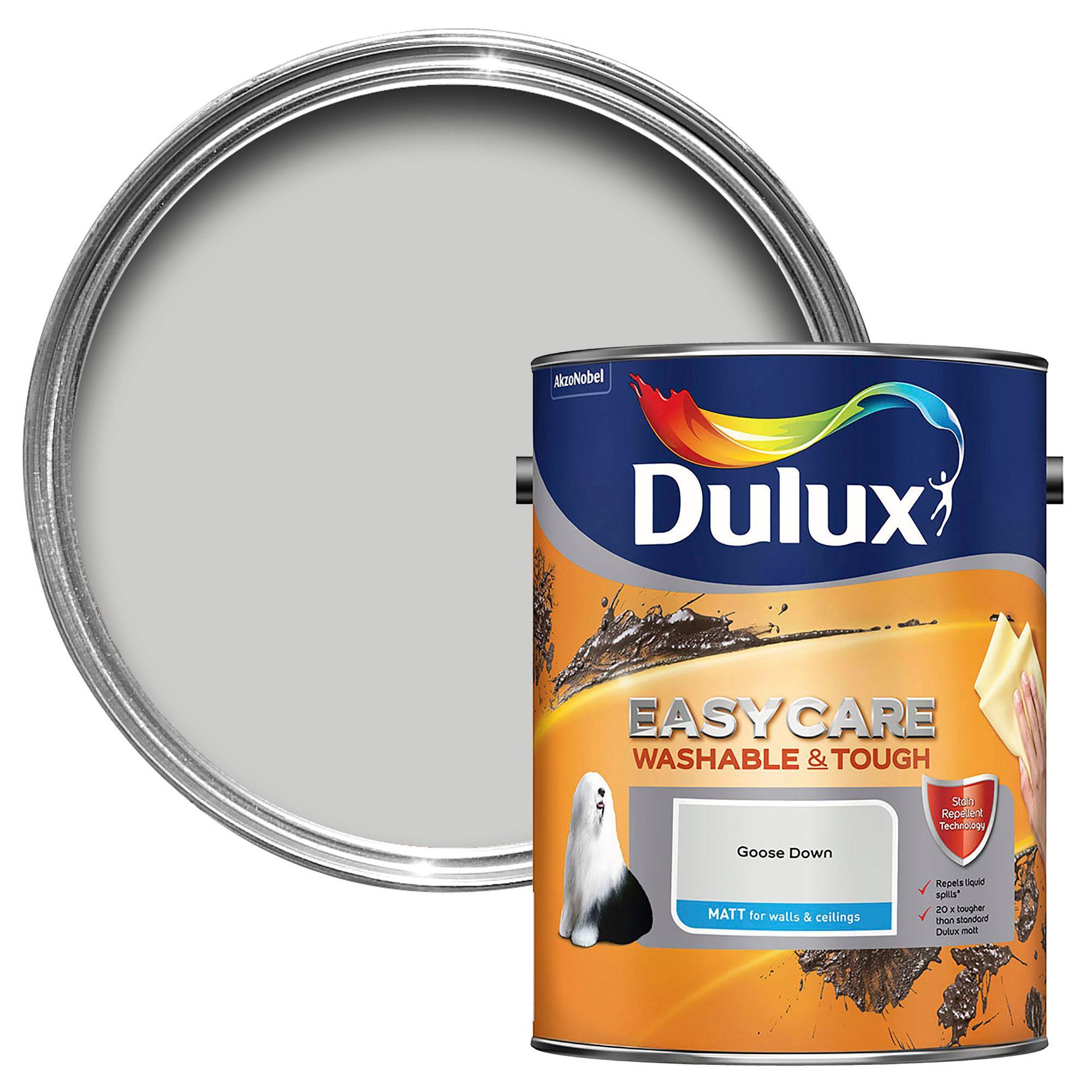 dulux easycare goose down matt emulsion paint 5l. Black Bedroom Furniture Sets. Home Design Ideas