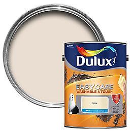 Dulux Easycare Ivory Matt Emulsion paint 5L