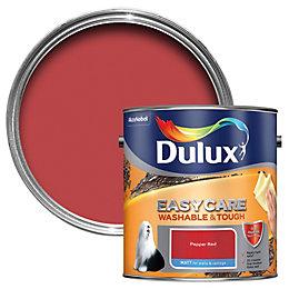 Dulux Easycare Pepper Red Matt Emulsion Paint 2.5L