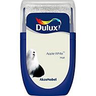 Dulux Standard Apple white Matt Emulsion paint 0.03L Tester pot